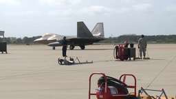 F-22 Raptor pilots returning to Langley Air Force Base Footage