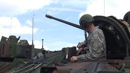 Bradley tanks at Grafenwoehr Range Footage
