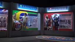 WWII Uniforms on display at the National Museum of the U.S. Air Force Footage