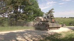 Tanks from Multi National Forces Conduct Defensive Operations Footage