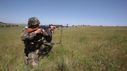 Soldiers attack with AK47 Footage