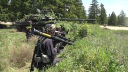 Soldiers OPFOR Position Attacked by US Armor tank Footage