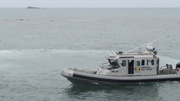USAV New Orleans delivers small boats to Tradewinds Stock Video Footage