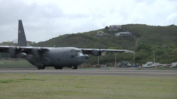 Troops arrive on C-130 Hercules transport aircraft Footage