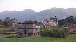Village And Mountains,Pharping,Nepal stock footage