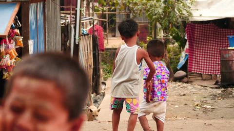 children in Yangon of Myanmar - 2 videos sequence Footage