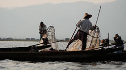 Fishing in inle lake - few videos sequence Footage