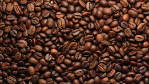 Coffee Beans In Motion Archivo