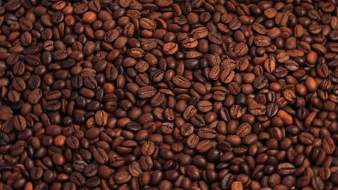 Rotating Coffee With Coffee Beans Footage