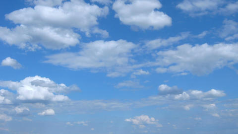 White clouds in the blue sky Footage