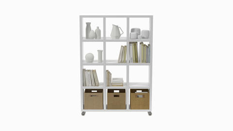 Shelf furniture, loop, animation, Alpha channel Stock Video Footage