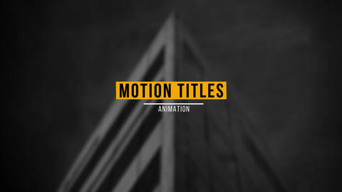 Modern Titles V1 After Effects Template