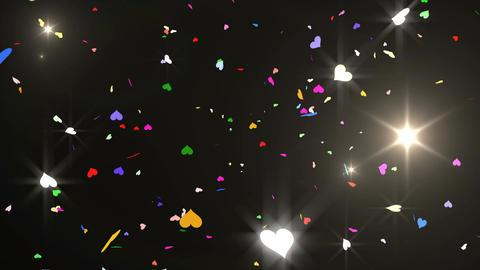 Confetti Heart 3 Top 8XB 4k Animation