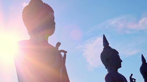 Beautiful Buddhist statue in Seema Malaka Temple, Colombo, Sri Lanka Footage