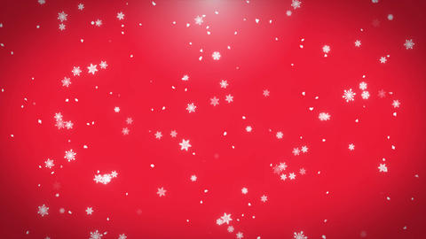 Christmas and New Year Falling Snowflakes Motion Loop Background Animation
