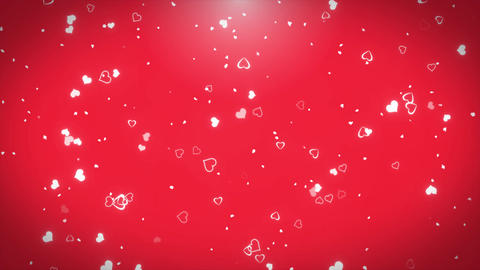 4k Romantic flying heart lovely heart backdrop Seamless loop . For St. Valentine ภาพเคลื่อนไหว