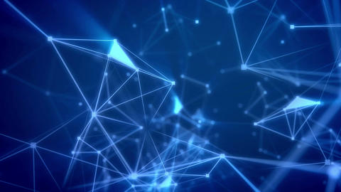 Beautiful Futuristic background with dots connected… Stock Video Footage