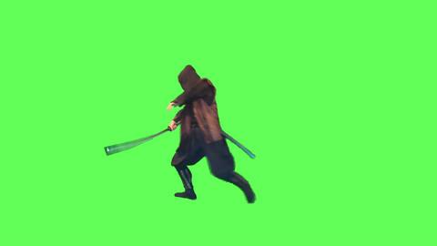 剣術をする忍びの頭領1 ビデオ