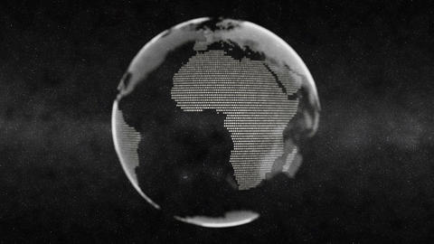 Earth Globe Animation White Footage