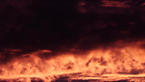 Fire Sunset Clouds Like Lava Footage