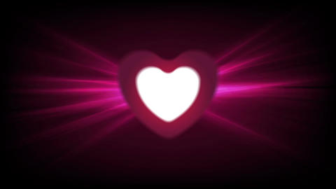 Heart and glowing luminous effect motion design Animation