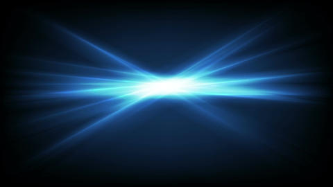 Animated background of glowing blue laser beams Stock Video Footage