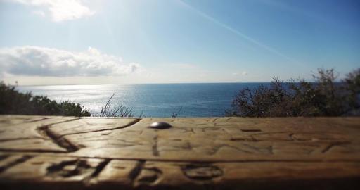Malibu beach table view Filmmaterial