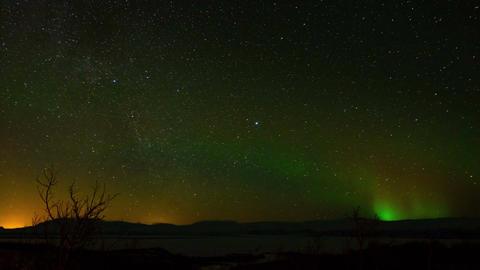 Aurora Borealis in Sweden Footage
