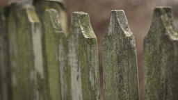 Vintage wooden fence Footage