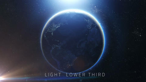 Space Light Lower Third (5 Pack) After Effectsテンプレート