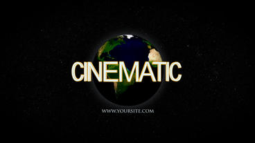 Earth Cinematic After Effects Projekt