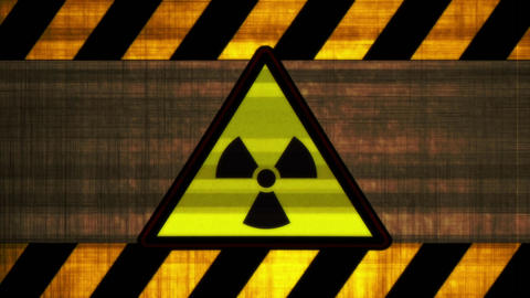 Sign the radioactive threat restrictive ribbons Animation
