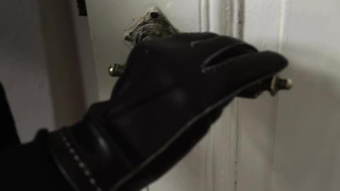Antique Key Door Opening Evening Closeup Footage