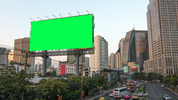 The opening pair of blank billboards in a city Stock Video Footage