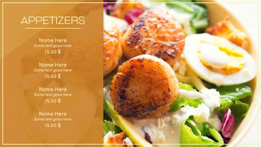 Restaurant Menu After Effects Project