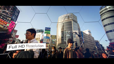 Hexagon Slideshow แม่แบบ Apple Motion