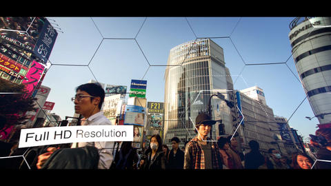 Hexagon Slideshow Apple Motion Template