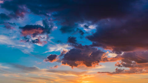 Colorful sunset with clouds Footage