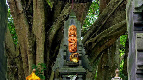 Figure of Hindu supreme god Sang Hyang Widhi Wasa.. Bali, Indonesia Footage