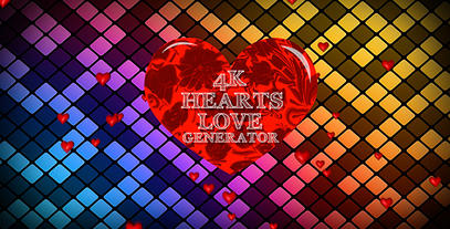 4kHeartLoveGenerator Plantilla de Apple Motion