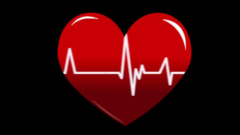 Heart-3 CG動画素材