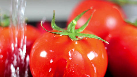 Extreme close-up tomatoes Footage