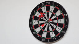 Darts Being Thrown Into Dartboard Footage