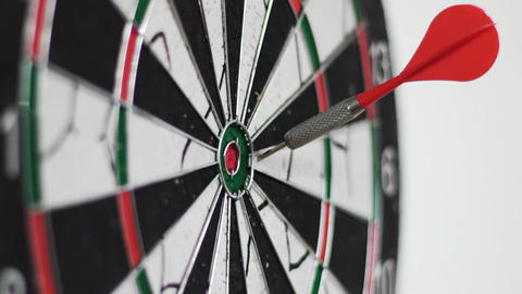 Close-Up Shot Of A Dart Board Footage
