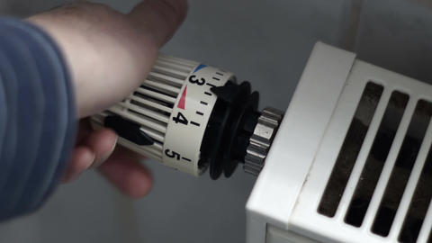 Heater Radiant Hot Water Control Closeup Footage