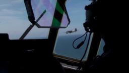 C-47 Dakota skytrain and C-130 Hercules Normandy Formation Stock Video Footage