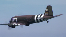 C-47 Dakota skytrain and C-130 Hercules Normandy Formation Footage