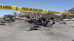 Marine AV-8B Harrier crash scene in Imperial, California Footage