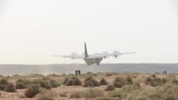 C-130 Hercules operations Footage