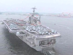 Aircraft Carrier USS George Washington Stock Video Footage